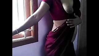 HOT INDIAN MAID IN SAREE STRIP TEASE AND FUCK